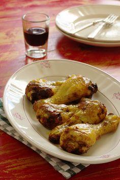 Cinco Quartos de Laranja: Pernas de frango assadas no forno com tomilho
