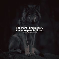 The more I find myself the more people I lose. via (http://ift.tt/2jUiVP2)