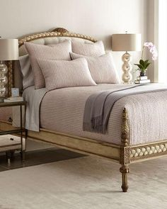 Shop Seta Quilted Silk Bedding from Annie Selke Luxe at Horchow, where you'll find new lower shipping on hundreds of home furnishings and gifts. Luxury Bedroom Furniture, Bed Furniture, Home Bedroom, Luxury Bedding, Bedroom Decor, Blue Comforter Sets, Luxe Decor, Home Decor Sale, Silk Bedding