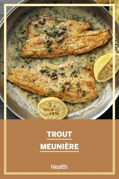 It's amazing what a hot skillet and a little fat can do for fish—golden and crisp on the outside, tender and flaky inside. Check out this healthy fish recipe you can make tonight! #fishrecipes #cookingwithfish Crab Cake Recipes, Fish Recipes, Seafood Recipes, Grilled Salmon, Baked Salmon, Lemon Butter Shrimp, Healthiest Seafood, Seafood Pasta, Healthy Grilling