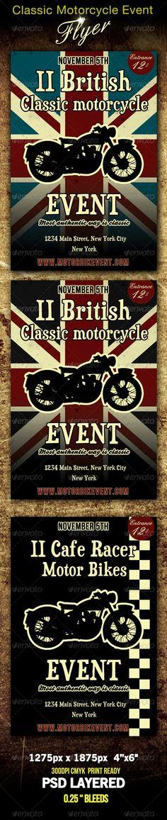 Realistic Graphic DOWNLOAD (.ai, .psd) :: http://realistic-graphics.xyz/pinterest-itmid-1000671786i.html ... Classic Motorbike Event Flyer ...  bar, bike, bikes, british, cafe racer, classic, disco, event, flag, flyer, motorbike, pub, retro, vintage  ... Realistic Photo Graphic Print Obejct Business Web Elements Illustration Design Templates ... DOWNLOAD :: http://realistic-graphics.xyz/pinterest-itmid-1000671786i.html