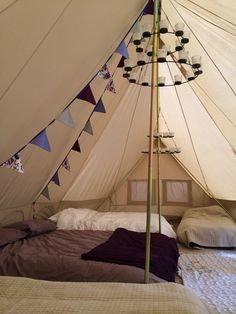 Inside our Emperor Bell Tent