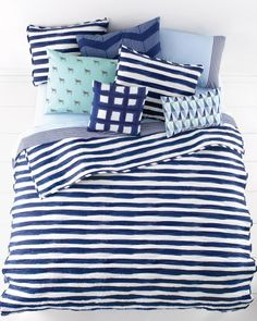 There's nothing rigid about these stripes. This quilt and these shams look like they are hand-painted. Shop the Look at Macy's