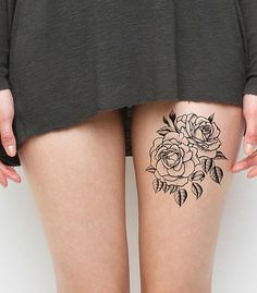 Twin Rose Tattoos for Women
