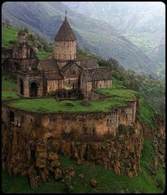 Tatev Monastery is situated near the village of the same name in part of Zangezur--ancient Syunik in Armenia. The monastery was founded in the ninth century in place of a tabernacle well-known in ancient times... ~ Old Moss Woman's Secret Garden