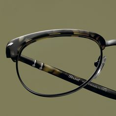 Persol is an Italian luxury eyewear brand specializing in the manufacturing of sunglasses and optical frames. It is one of the oldest eyewear companies in the world. Optical Frames, Leather Men, Eyeglasses, Eyewear, Bangles, Belt, Canning, Personalized Items, Luxury