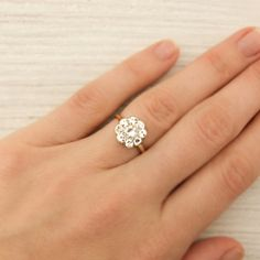 Edwardian cluster ring. So gorgeous!