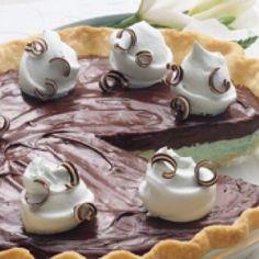 Creamy chocolate mint pie by Pillsbury