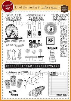 Unity Stamp Company August 2011 Kit of the Month