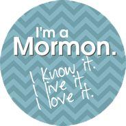 I'm a Mormon - Blue button