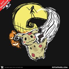 Nightmare Before Mimikyu T-Shirt - Pokemon T-Shirt is $11 today at Ript!
