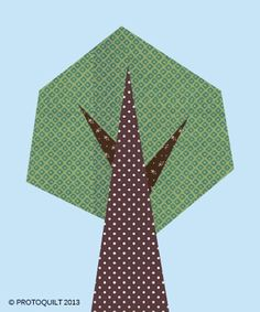 Tree paper pieced quilt pattern by ProtoQuilt
