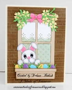 A Stroke of Jeanne-ius Papercrafting: Another Easter Card and Another Free Cut file