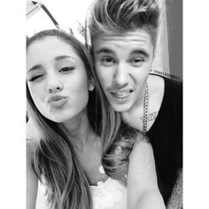 jariana via Tumblr We Heart It ❤ liked on Polyvore featuring ariana grande, justin bieber, ariana, pictures and agb manips