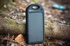 Amazon.com: Solar Charger - Creative Edge(TM) Solar-5 Solar Panel 5000mAh Water/ Shock/ Dust Resistant Portable Backup Power Bank Pack Dual USB Charger