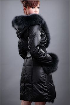 fox fur trimmed winter coat