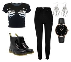 """""""Untitled #137"""" by paolaporoj on Polyvore featuring River Island, Dr. Martens and Topshop"""