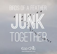 Junk quote.  Birds of a feather junk together.  Eco Chic Boutique.