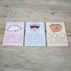 """Pack de tres imanes """"No se me olvida nada"""" de Mr. Wonderful. 9,50€. De venta en Fnac."""