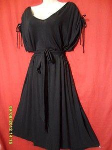 2X 18 20 BLACK gothic SEXY rockabilly PLUS SIZE little KNITdress ELASTIC waist | eBay