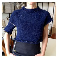 knitting body and sleeves on top-down sweater  Part 5