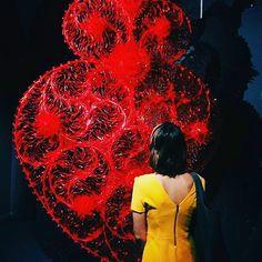 #chiostrolove #Repost @juli.jjw   #love #exhibition #red #yellow #dress