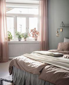 Une déco en vert et rose dans la chambre | My Blog Deco