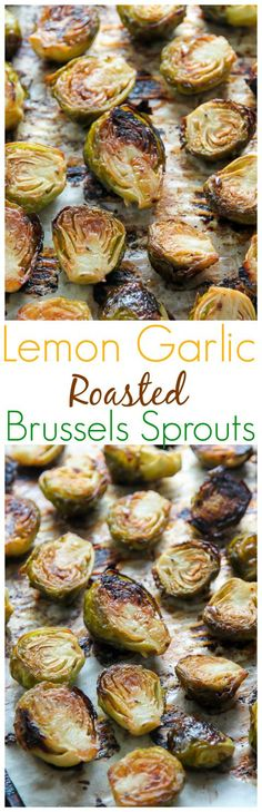 Crispy and flavorful Lemon Garlic Brussels Sprouts! Perfect side for dinner.