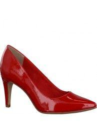 Tamaris kiiltävän punaiset korkokengät