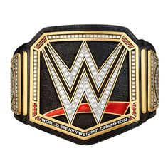 This Replica Championship Title Belt is the closest we offer to the real thing!  Weighing over 5 pounds, holding this Title will make you feel like a true WWE Champion.  It is molded from the actual title and is carefully constructed in stunning detail.    	Plate Material: Zinc Alloy 	Strap Material: Polyurethane 	Strap Dimensions: 50.39