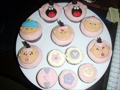 Cupcakes, Design Ideas Baby Shower Cakes With Cute Decorations 01007: Cute Baby Shower Cakes Design & Decoration