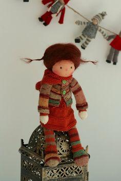 Waldorf knitted doll Lea 13 by Peperuda dolls by danielapetrova