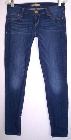 "Guess Jeans 27 Low Rise Skinny Stretch Denim Ankle Zip Pants Women's Waist 30"" #GUESS #SlimSkinny"