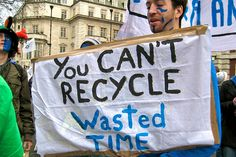 You can't recycle wasted time -  by hmcotterill, via Flickr