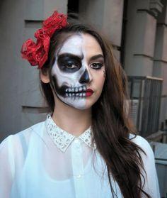 Skull Halloween Makeup Tutorial – Pretty Skull Makeup
