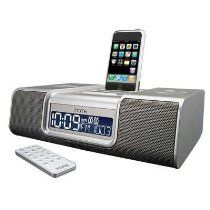 iHome iP9 Speaker Dock with Clock Radio for iPod and iPhone (Silver)
