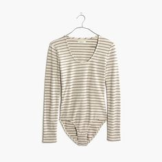 madewell striped song scoop bodysuit.