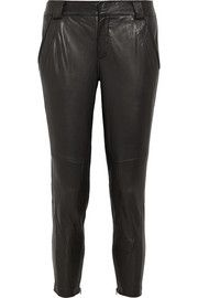 Vince Moto leather skinny pants