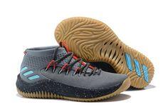 New Arrival adidas Dame 4 Dark Grey Red-Black - Mysecretshoes Adidas Shoes 2aa965348