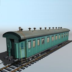 Passenger vagon type 20 Model in Models 3d Max, World, Vehicle, Models, Train, The World, Fashion Models, Vehicles, Templates