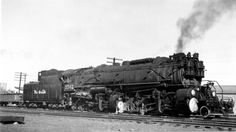 Denver & Rio Grande Western Class Mallet built by Baldwin in 1919 for the Norfolk & Western RR as D & R G W bought it in 1943 and scrapped it in Railroad History, Railroad Photography, Old Trains, Train Pictures, Train Engines, Wooden Ship, Model Train Layouts, Jazz Age, Steam Engine