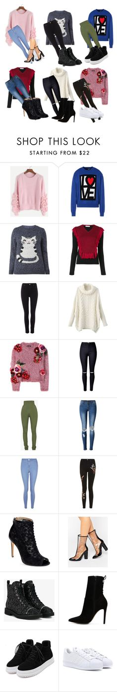 """""""Sem título #2656"""" by mariana-mester-vianna ❤ liked on Polyvore featuring WithChic, Love Moschino, Altuzarra, Pied a Terre, Dolce&Gabbana, Balmain, New Look, Topshop, Badgley Mischka and Missguided"""