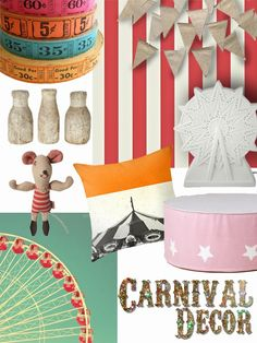 Carnival Decor mood board + sources | the handmade home