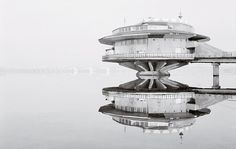 Celebrating soviet architecture / @Architectural Digest | AD goes inside Frédéric Chaubin's fascinating new book, Cosmic Communist Constructions Photographed | The Poplakov Café (1976), built atop the Dnieper river in the Ukraine | #sovieticarquitectura