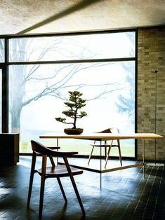 Zen home office Beautiful Interior Design, Contemporary Interior, Beautiful Interiors, Interior Architecture, Interior And Exterior, Home Office, House Design Photos, Home Design, Workspace Inspiration