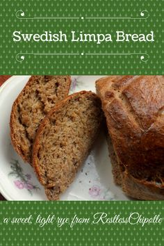 This Swedish Limpa recipe is a light rye bread that is given a little sweetness from just a hint of orange juice. It makes great ham or turkey sandwiches. Swedish Rye Bread Recipe, Swedish Bread, Swedish Recipes, Pastry Recipes, Bread Recipes, Cooking Recipes, Pita Recipes, Healthy Recipes, Kitchens