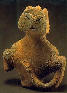 Japanese Wonder ceramic figurine. B.C.5,500 - 4,500 This figurine was unearthed on Kamikurokoma Yamagata Japan.