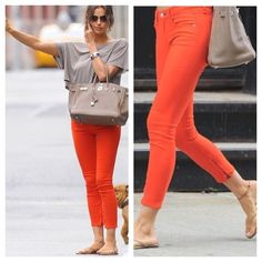 Rag & Bone Coral Cropped Skinny Jeans Rag & Bone for Intermix Stretch denim cropped skinny jean in coral wash with mock front pockets and rear patch pockets. Made in U.S. 96%Cotton/4%roica. Machine wash. rag & bone Jeans Skinny