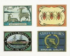 Design is fine. History is mine. — Japanese Matchbox Labels, 1882-1918. From Graphis....