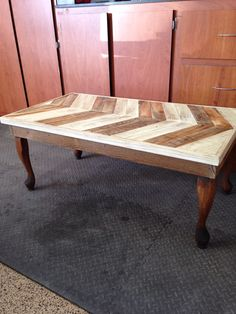 Coffee table available at Junk in the Trunk show May 2016 Booth #99